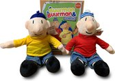 Buurman & Buurman pluche poppen 35 cm pakket met doeboek