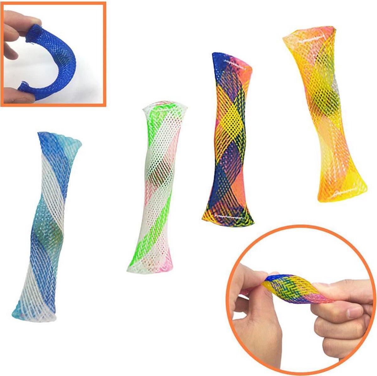 Mesh and Marble - Fidget Toys - Pop it - Simple Dimple toy - Mix kleur 4 STUKS