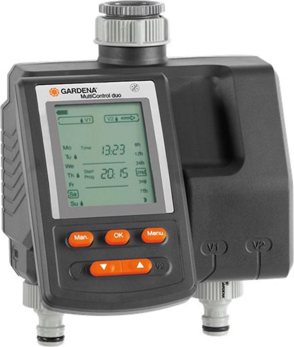 GARDENA Besproeiingsomputer MultiControl Duo - 3 besproeiingen per dag - 1min tot 3u 59min.