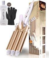 Beau Hair Golvenkrultang - Wafeltang - Automatische Krultang - Inclusief Biosilk Silk Therapy en handschoen