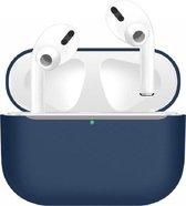 Apple AirPods Pro - Siliconen Case Cover - Geschikt voor AirPods Pro - Kleur Blauw