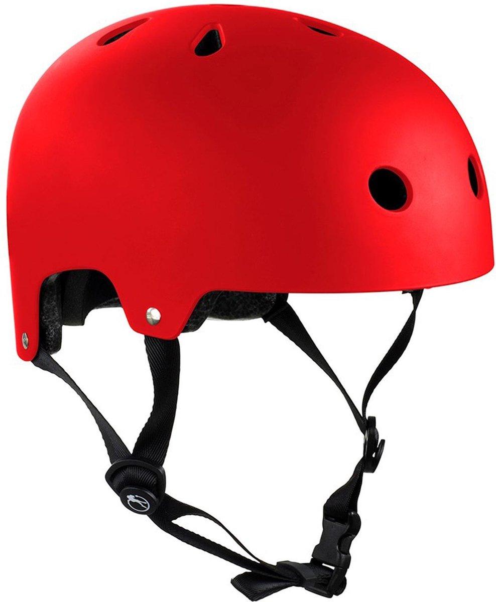Skatehelm Essentials rood maat: 53-56cm
