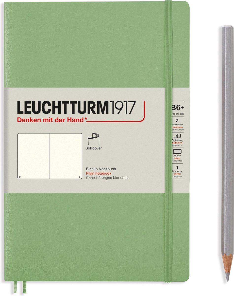 Leuchtturm notitieboek softcover 19x12.5 cm blanco sage