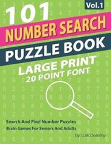 Number Search Puzzle Book Large Print