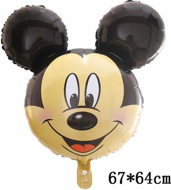 Mickey Mouse Ballon Disney Met Rietje,Helium Ballonnen ,Verjaardag Decoratie .67x64cm & Straw