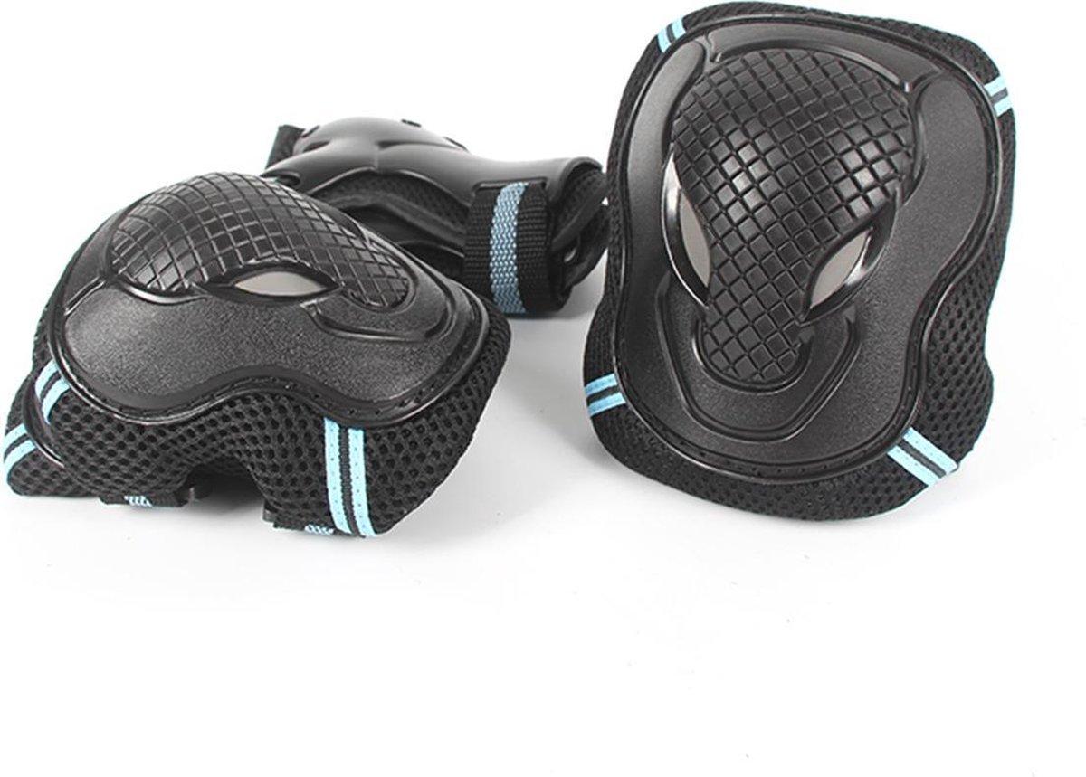 J-Pro Valbescherming - Skate en Skeeler Bescherming Set - Zwart met Blauw - Maat M