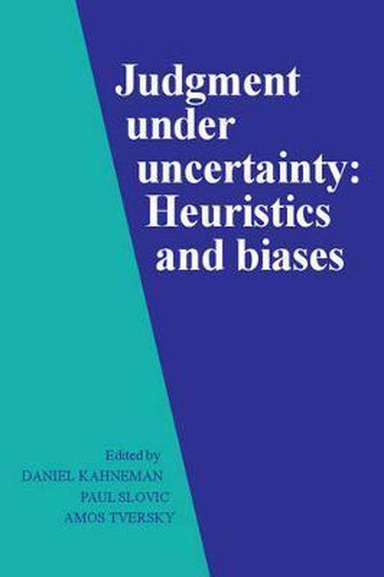 Boek cover Judgment under Uncertainty van D. Kahneman (Paperback)