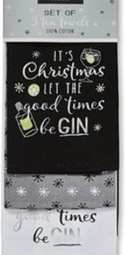 Cooksmart Theedoek (Per 3st.) Christmas Gin
