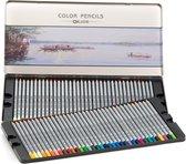 Kleurpotloden set 72-Delige - Hoogwaardig Tekenpotloden -Schetspotloden - Professionele tekendoos - Art set