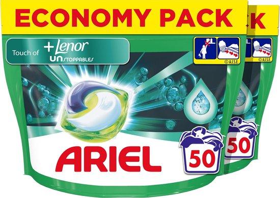 Ariel All-in-1 Pods + Unstoppables Wasmiddel - Voordeelverpakking 100 Wasbeurten - Wasmiddel Pods