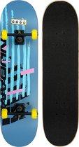 Nijdam Classic Skateboard - Game Changer - Blauw/Geel