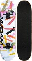 Nijdam Classic Skateboard - High Time - Roze/Wit