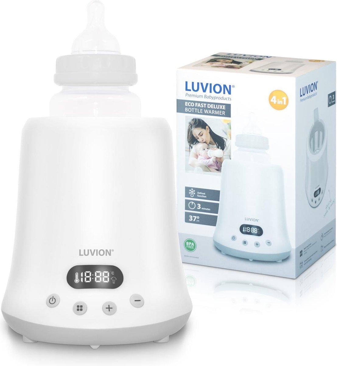 Luvion Eco Fast Deluxe 4 in 1 Flessenwarmer - Verwarmt zeer snel - Steriliseren met stoomkap - Warmh