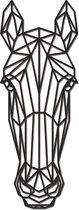 Hout-Kado - Paard - Small - Zwart - Geometrische dieren en vormen - Hout - Lasergesneden