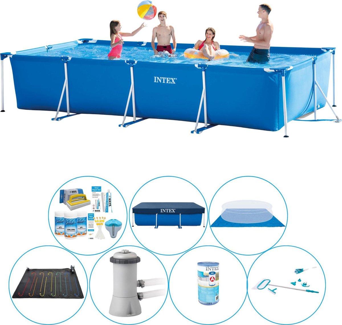 Zwembad Deal - Intex Frame Pool Rechthoekig 450x220x84 cm