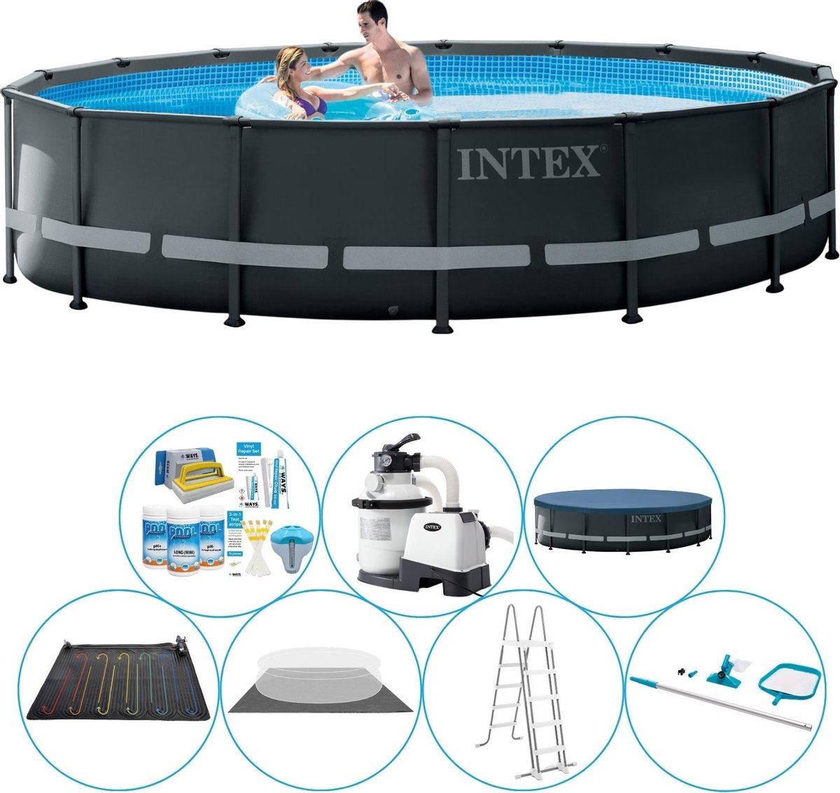 Intex Ultra XTR Frame Rond 488x122 cm - Zwembad Pakket