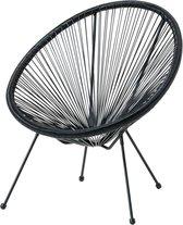 Loungestoel ei vorm / Tuinstoel / Zwart / 1 Stuk /