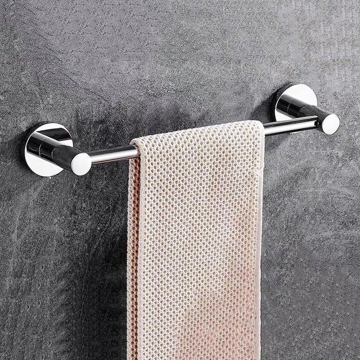 Handdoekrek Zwart Badkamer Handdoekhouder Handdoekstang Handdoek Rek - Badkamer Accessoires - 32cm - GENSTO