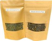 Chinese Groene thee Liefhebber pakket - West Lake Long Jing & Sichuan Jasmijn (najaar 2020)