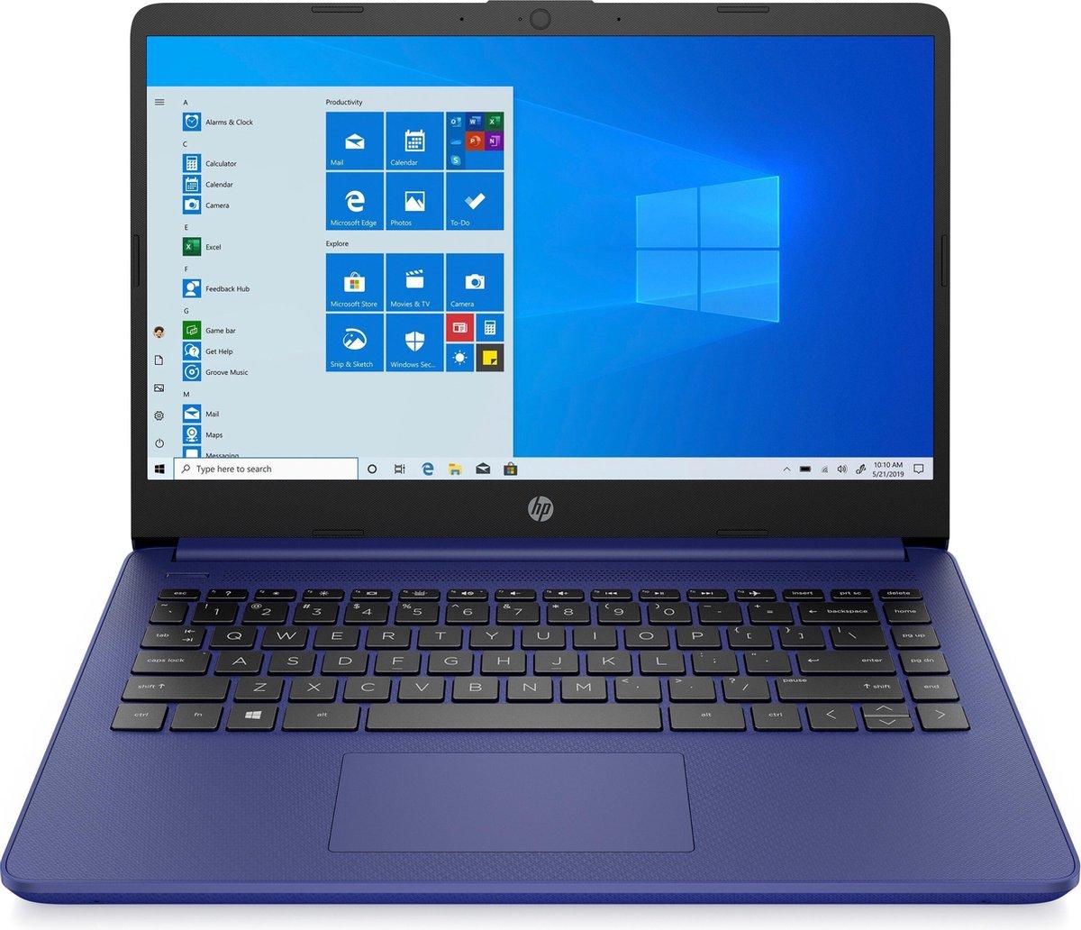 """HP 14s-fq0039nd DDR4-SDRAM Notebook 35,6 cm (14"""") 1920 x 1080 Pixels AMD Ryzen 3 4 GB 128 GB SSD Wi-Fi 5 (802.11ac) Windows 10 Home S Blauw"""