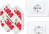 Supertarget Stopcontact beveiliging 10 stuks in plastic verpakking 3M - zelfklevende stopcontact beveiligers 10 stuks - stopcontact beschermers 10 stuks - zelfklevende stopcontact beveiligers 10 stuks - bescherming - kind - 10 stuks