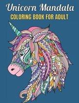Unicorn Mandala Coloring Book For Adult