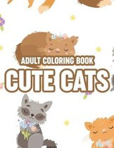 Adult Coloring Book Cute Cats
