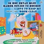 I Love to Keep My Room Clean (Dutch English Bilingual Children's Book)
