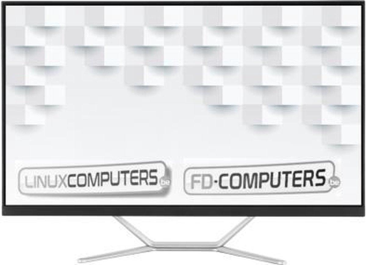 Linux 27 inch ALL-IN-ONE PC  Intel i3-10100   4 Gb ram   256 Gb SSD   Windows 10 alternatief, Linux Mint, Ubuntu, Debian