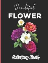 Beautiful Flower Coloring Book