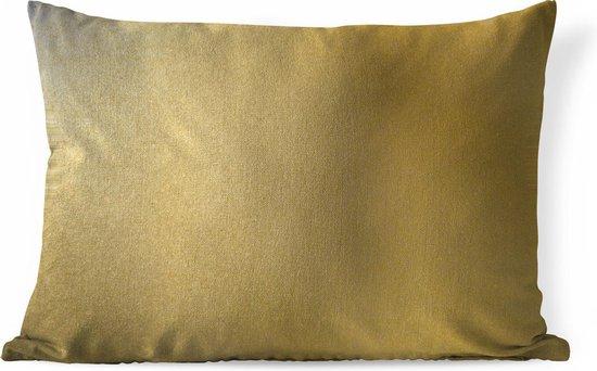 Sierkussens - Kussen - Metalen achtergrond van goud - 50x30 cm - Kussen van katoen