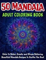 50 Mandala Adult Coloring Book