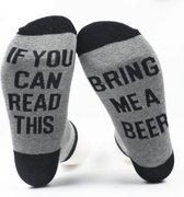 Grappige sokken - Bring me Beer - one size - cadeau mannen - huissokken - Vaderdag kados - verjaardag - bier sokken - geschenk vader - bierpakket