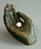 Parel in hand bronskleur