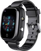 EazyGoods®️ - SmartWatch Kinderen - 4G - GPS Horloge Kind - Kinderhorloge - GPS Tracker - KidsWatch - Videobellen - Camera - Locatie - Zaklamp - Zwart