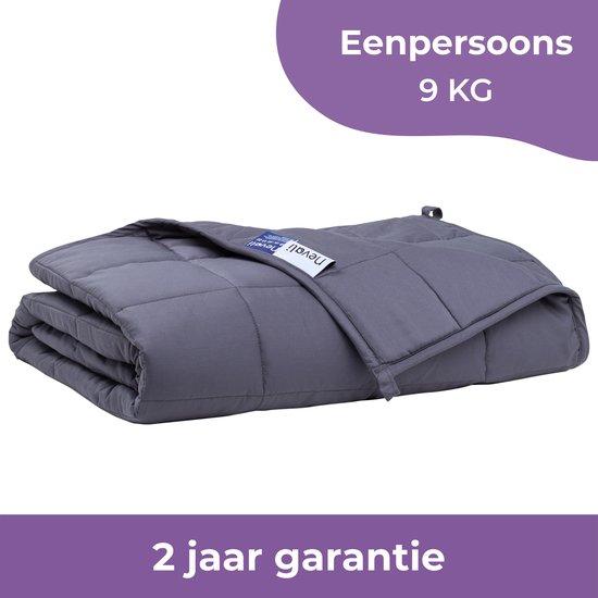 Nevali® Verzwaringsdeken 9 kg - Te gebruiken met je eigen dekbedovertrek - Verzwaarde Deken - Weighted Blanket - Zware Deken - Inclusief 2 jaar garantie - 140 bij 200 cm