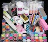Acrylnagels StartersPakket |120 delig | 90 Colors | Acryl Nagels set | Acryl Starter Kit | Nail Art Pakket | - Multi Kleur