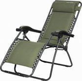 """Capture Outdoor, Opklapbare luxe ligstoel """"Relax RZ-1"""", verstelbare rugleuning, luxe armleuningen, opgespannen gevoerd doek, afneembaar kussen, …"""