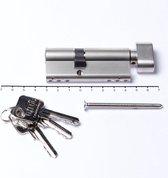 Oxloc Profielcilinder knop dubbel sl30/kn45 SKG**