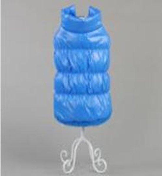 Blauwe jas met kraag