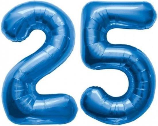 Folie ballon blauw 25