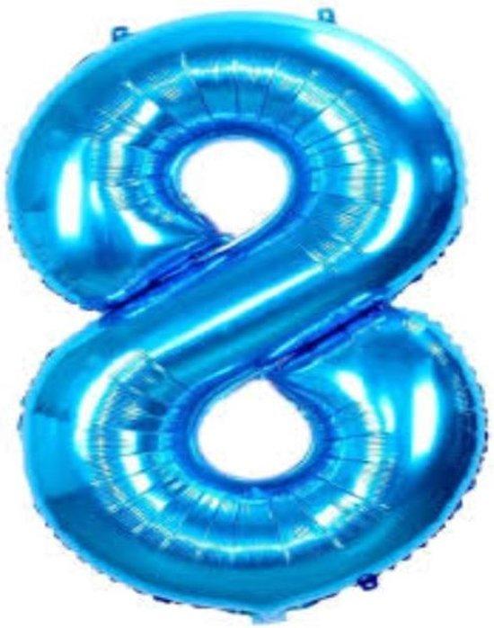 Folie ballon blauw 8