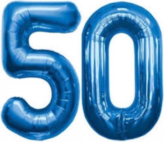 Folie ballon blauw 50