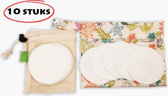 Wasbare Wattenschijfjes 10 stuks - Wit