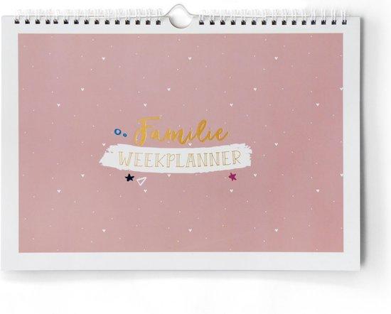 Familie weekplanner incl stickervel - A4 ongedateerd - gezinsplanner