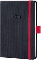Weekagenda Sigel Conceptum A6 2021 zwart/rood SI-C2109