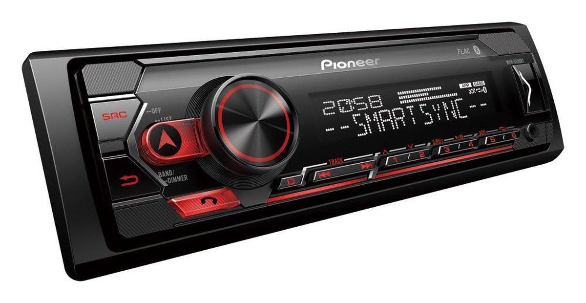 Pioneer MVH-S320BT Autoradio Enkel din Rood-USB-Bluetooth - 4 x 50 W