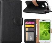 Huawei P Smart Booktype / Portemonnee TPU Lederen Hoesje Zwart