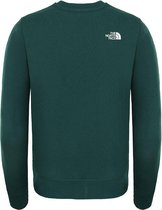 The North Face Box Crew sweater jongens groen/wit