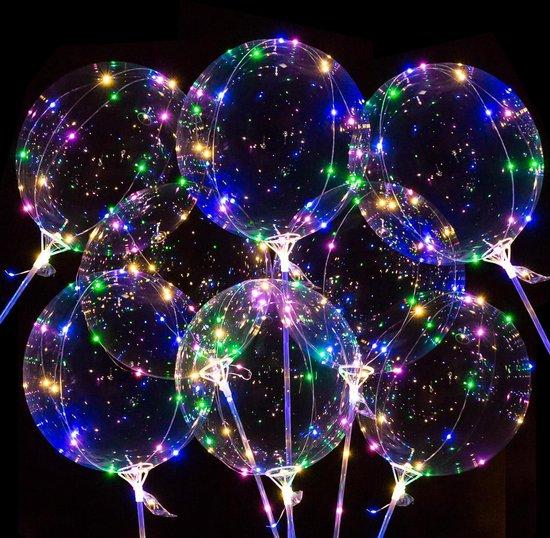 Fissaly® 8 Stuks XXL LED Ballonnen incl. Lampjes, Lichtsnoer & Accessoires – Lichtjes Slinger – Verlichting